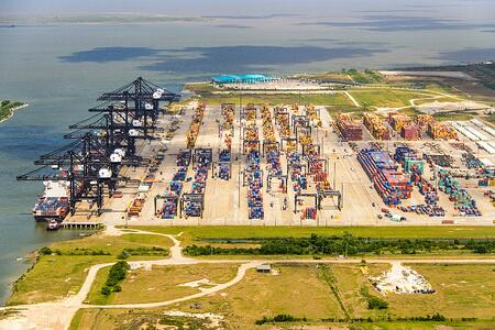 Bayport Container Terminal Aerial View