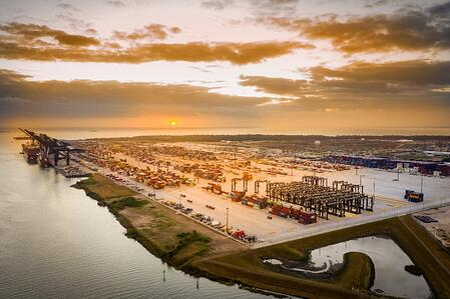 Bayport sunrise and aerial view-1