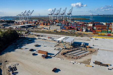 Construction at Barbours Cut Container Terminal